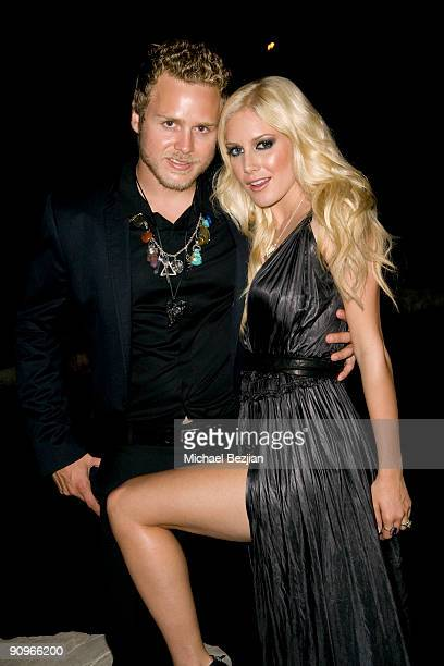 Spencer Pratt and Heidi Montag attend the Stander Launch Party at The Playboy Mansion on September 18 2009 in Beverly Hills California