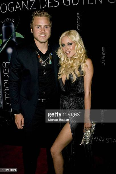 BEVERLY HILLS CA SEPTEMBER 18 Spencer Pratt and Heidi Montag attend the Stander Launch Party at The Playboy Mansion on September 18 2009 in Beverly...