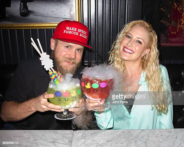 Spencer Pratt and Heidi Montag celebrate her 30th Birthday party at Sugar Factory American Brasserie on September 16 2016 in Miami Florida