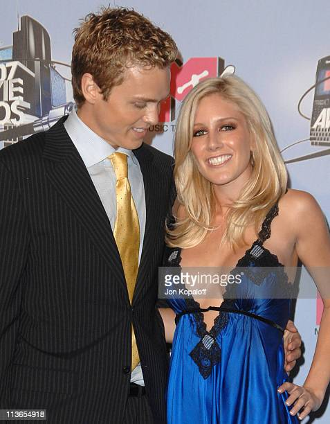 Spencer Pratt and Heidi Montag during 2007 MTV Movie Awards Press Room at Gibson Amphitheater in Los Angeles California United States