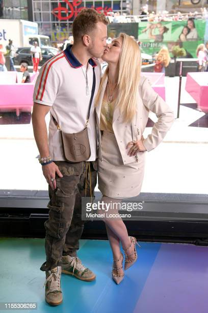 Spencer Pratt and Heidi Montag visit Extra at The Levi's Store Times Square on June 11 2019 in New York City