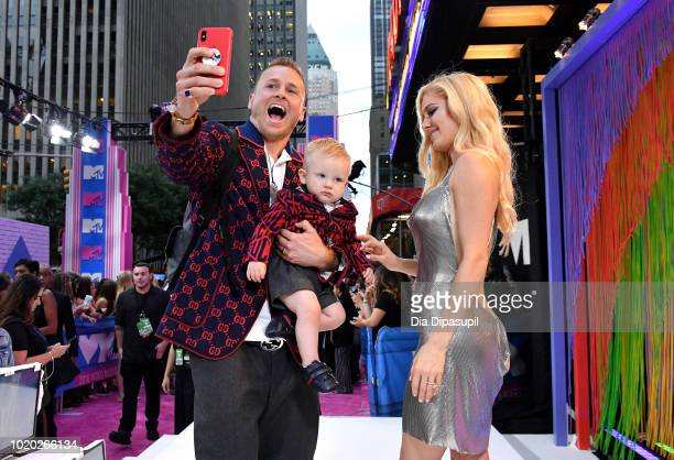 Spencer Pratt Gunner Pratt and Heidi Pratt attend the 2018 MTV Video Music Awards at Radio City Music Hall on August 20 2018 in New York City