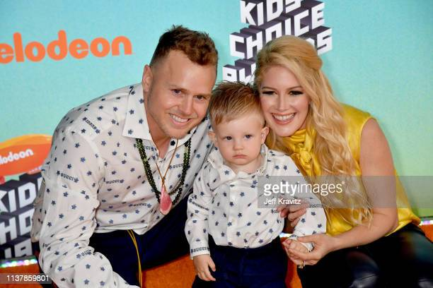 Spencer Pratt Gunner Stone and Heidi Montag attend Nickelodeon's 2019 Kids' Choice Awards at Galen Center on March 23 2019 in Los Angeles California