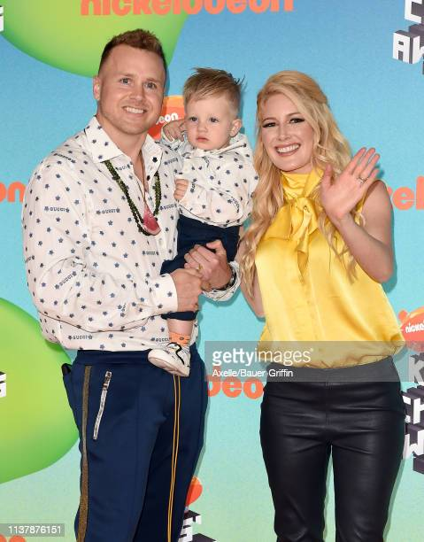 Spencer Pratt, Gunner Stone, and Heidi Montag attend Nickelodeon's 2019 Kids' Choice Awards at Galen Center on March 23, 2019 in Los Angeles,...