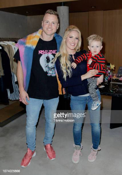 Spencer Pratt, Heidi Montag and their son attend Stephanie Pratt MeMe London Jewelry Event at Switch Boutique on December 15, 2018 in Beverly Hills,...