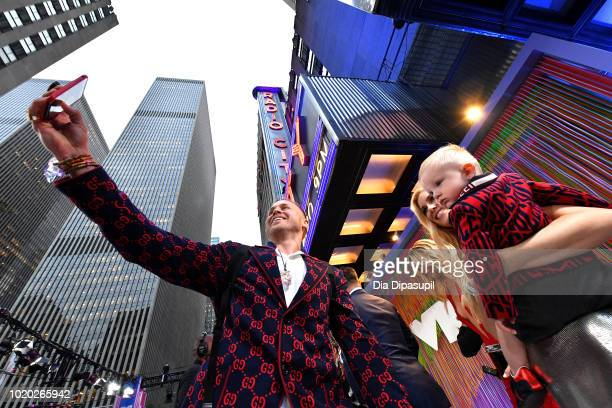Spencer Pratt Heidi Pratt and Gunner Pratt attend the 2018 MTV Video Music Awards at Radio City Music Hall on August 20 2018 in New York City