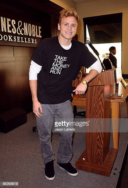 Spencer Pratt signs copies of ''How To Be Famous'' at the Barnes & Noble bookstore at The Grove on November 21, 2009 in Los Angeles, California.