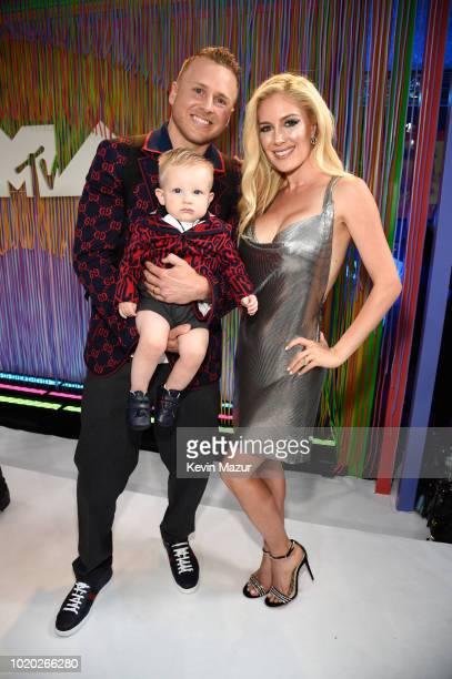 Spencer Pratt son Gunner Pratt and Heidi Pratt attend the 2018 MTV Video Music Awards at Radio City Music Hall on August 20 2018 in New York City