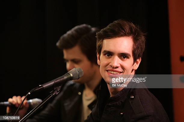 Spencer Smith and Brendon Urie of Panic! At The Disco perform at Radio 104.5's Xfinity Performance Theater February 2, 2011 in Bala Cynwyd,...