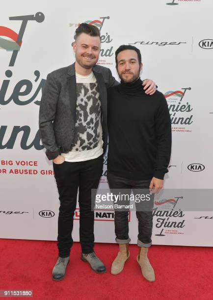 Spencer Smith and Pete Wentz at Steven Tyler and Live Nation presents Inaugural Janie's Fund Gala GRAMMY Viewing Party at Red Studios on January 28...