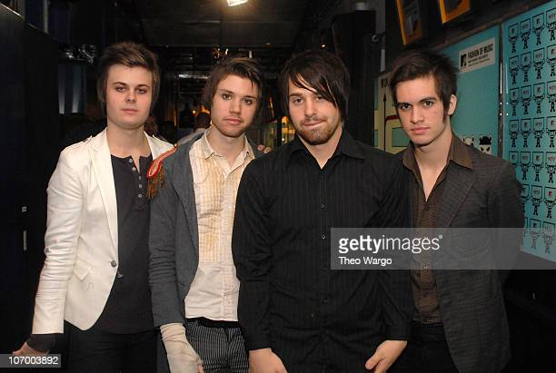 Spencer Smith Ryan Ross Jon Walker and Brendon Urie of Panic At the Disco