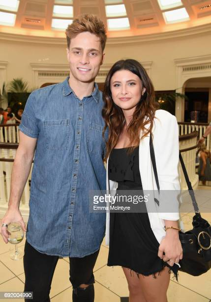 Spencer Sutherland and Savannah Outen at the Brooks Brothers Beverly Hills summer camp party benefitting St Jude Children's Research Hospital at...