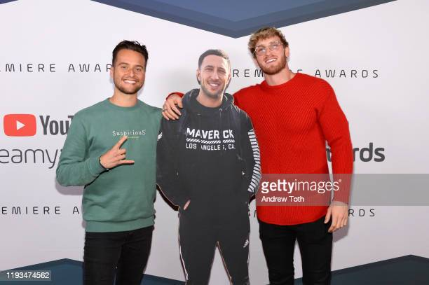 Spencer Taylor and Logan Paul attend the 2019 Streamys Premiere Awards at The Broad Stage on December 11 2019 in Santa Monica California
