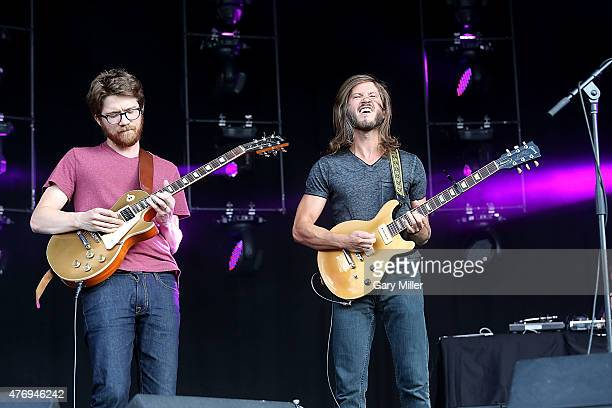 Spencer Thompson and Trevor Terndrup of Moon Taxi perform in concert during day 2 of the Bonnaroo Music Arts Festival on June 12 2015 in Manchester...