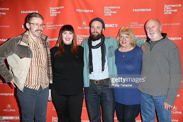 Spencer Thun Amanda Moore Drew Christie Laurel Christie and Brian Christie attend the 'Nuts' Premiere at Temple Theater on January 22 2016 in Park...