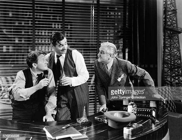 Spencer Tracy as Jonathan Sand Clark Gable as John McMasters and Frank Morgan as Luther Aldrich in the 1940 film Boom Town