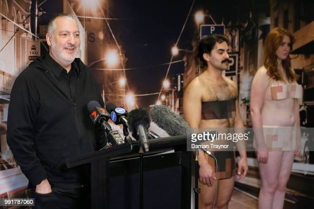 Spencer Tunick discusses plans for his upcoming nude installation on July 5 2018 in Melbourne Australia Tunick will create one of his famous nude...