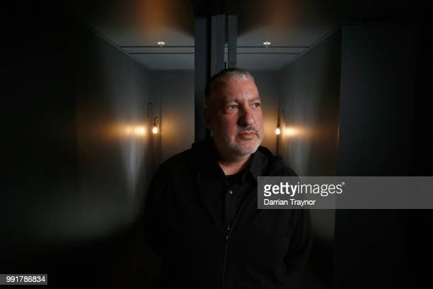Spencer Tunick poses for a photo after discussing plans for his upcoming nude installation on July 5 2018 in Melbourne Australia Tunick will create...