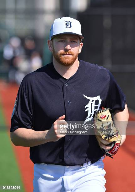 Spencer Turnbull of the Detroit Tigers looks on during Spring Training workouts at the TigerTown Facility on February 14 2018 in Lakeland Florida