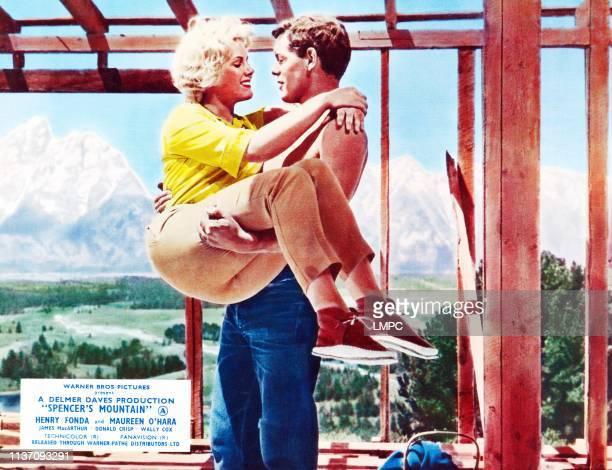 Spencer's Mountain lobbycard from left Mimsy Farmer James MacArthur 1963