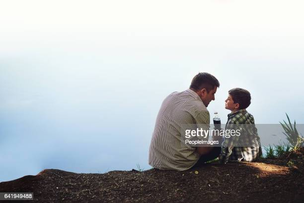 父と息子時間をかけてください。