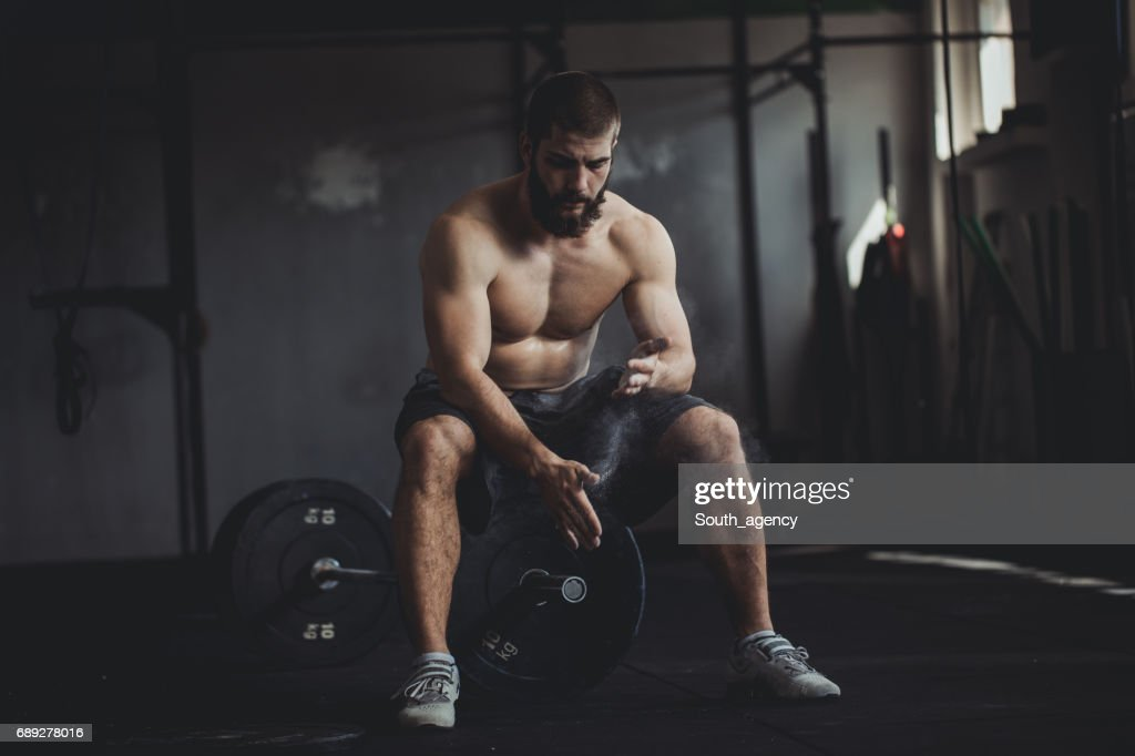 Spending time at the gym : Stock Photo