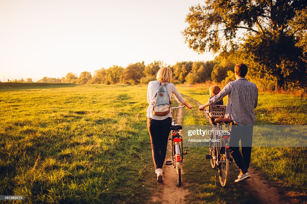Spending time outdoors : Stock Photo