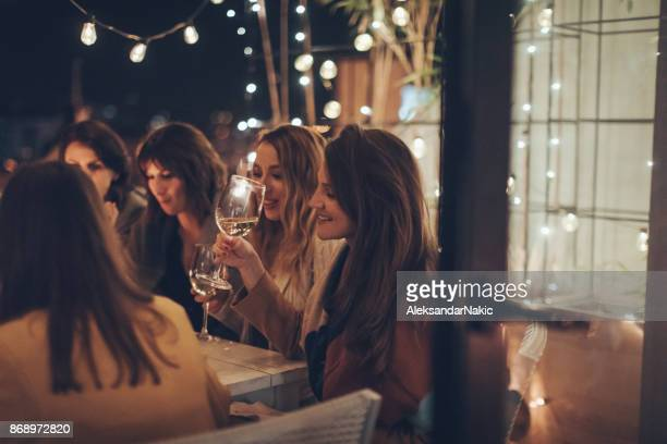 spending time with dear friends - night in stock pictures, royalty-free photos & images