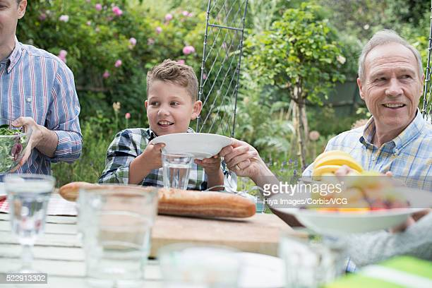Spending time with family in backyard (10-12 years)