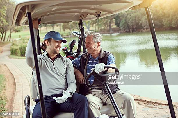 Spending time with his dad on the golf course