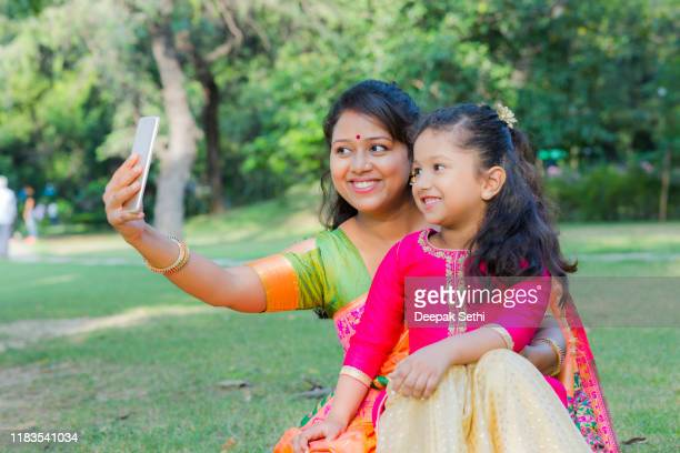 spending time with mother stock photo - indian culture stock pictures, royalty-free photos & images