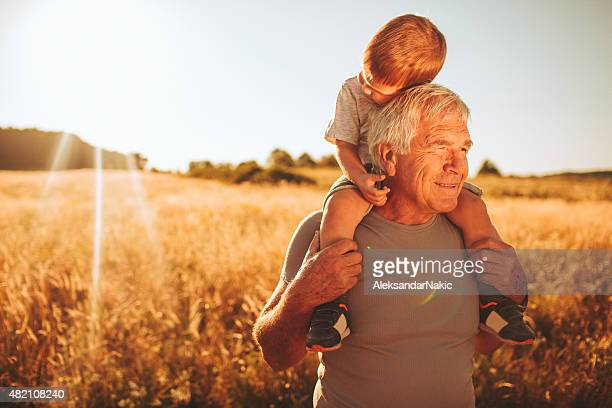 spending time with my grandson - piggyback stock pictures, royalty-free photos & images