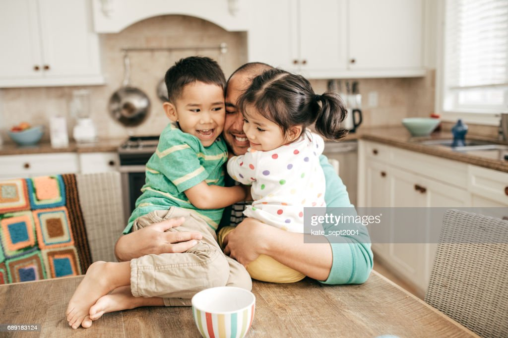 Spending time with your kids : Stock Photo