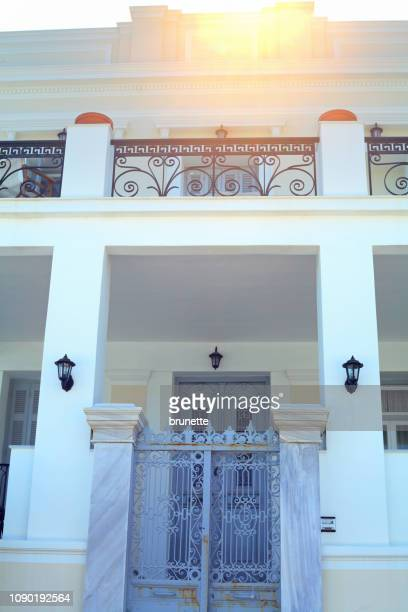 spetses island holiday villa - spetses stock pictures, royalty-free photos & images