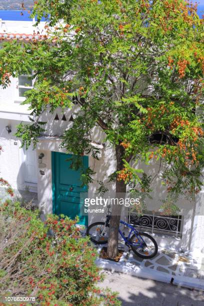 spetses island street, greece - spetses stock pictures, royalty-free photos & images