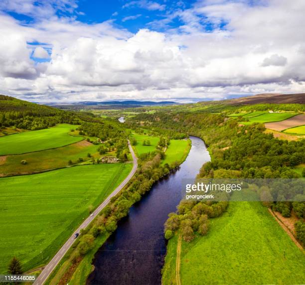 spey valley scenic - grampian scotland stock pictures, royalty-free photos & images