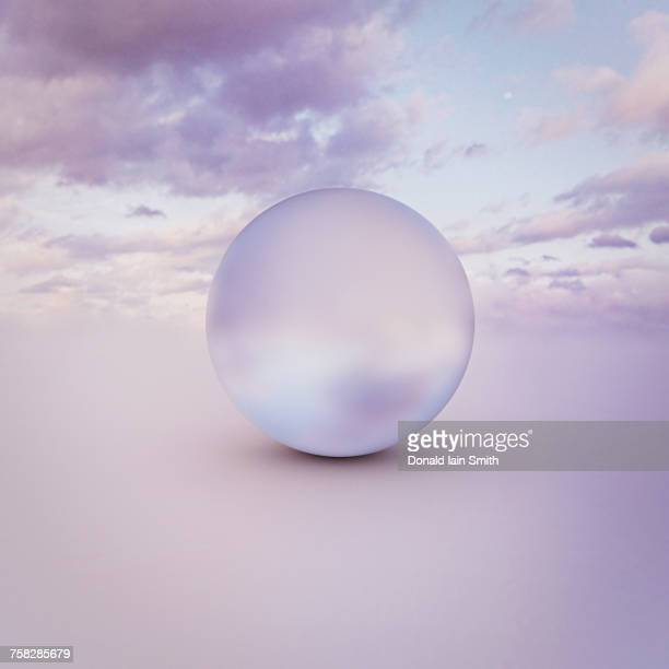Sphere in clouds