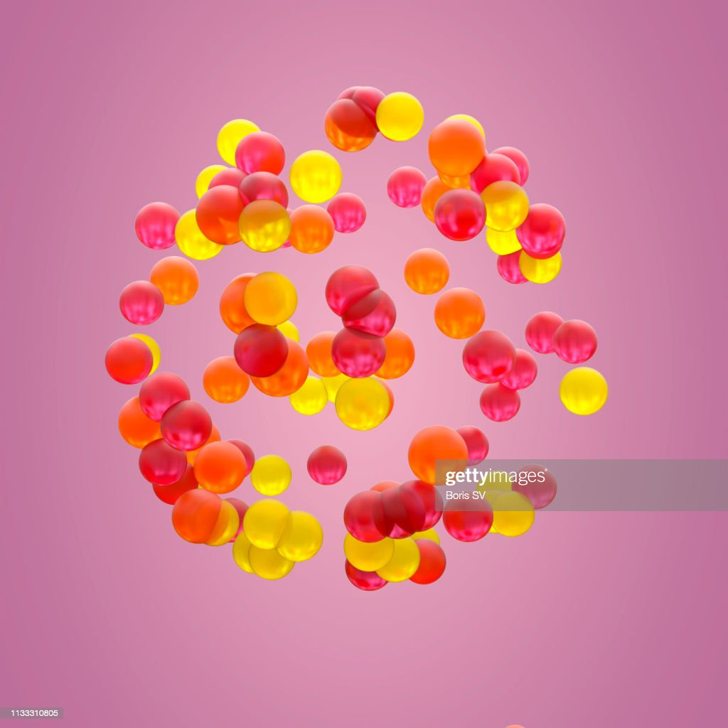 Sphere of colorful gelatins : Stock Photo