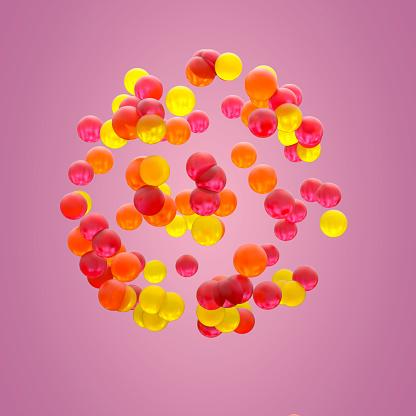 Sphere of colorful gelatins - gettyimageskorea