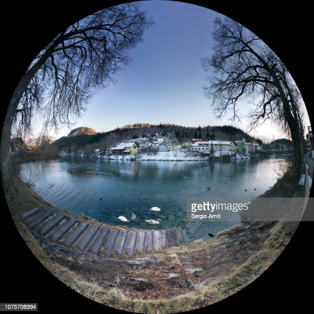 Sphere panorama of the Lech river in Fussen