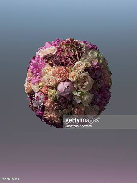 Sphere shaped floral arrangement
