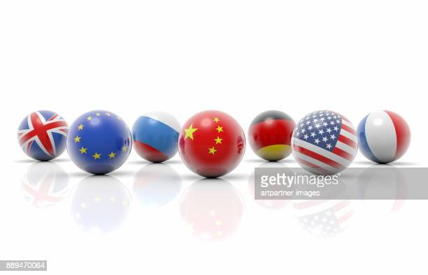 spheres with  flag motifs