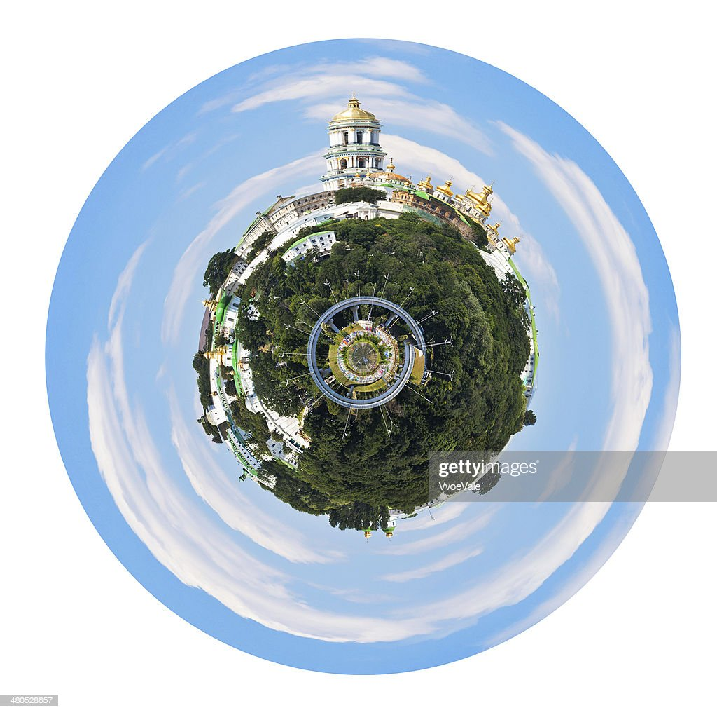 spherical view of Kiev Pechersk Lavra : Stockfoto