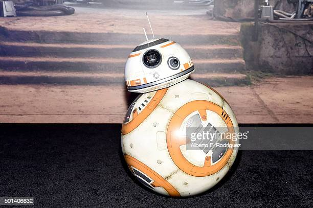 "Sphero BB8 attends the after party for the World Premiere of ""Star Wars The Force Awakens"" on Hollywood Blvd on December 14 2015 in Hollywood..."