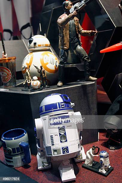 Sphero BB8 Star Wars droid from the Star Wars movie 'Star Wars Episode VII The Force Awakens' is displayed during the Christmas illuminations at the...