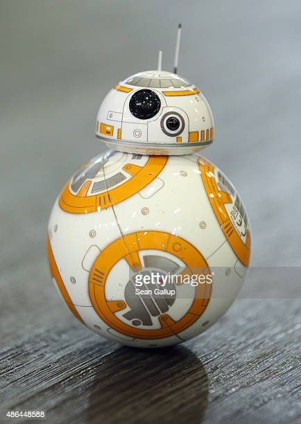 Sphero BB8 Star Wars droid rolls around at the Sphero stand at the 2015 IFA consumer electronics and appliances trade fair on September 4 2015 in...