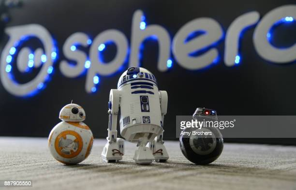 Sphero's StarWars line of connected toy robots BB8 RDD2 and BB9E at the Sphero campus in Boulder Colorado on December 1 2017 Sphero specializes in...