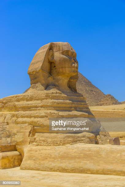 Sphinx and Great Pyramids at Giza