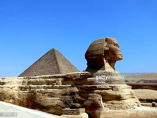 sphinx of gizeh and the pyramid - the sphinx stock pictures, royalty-free photos & images
