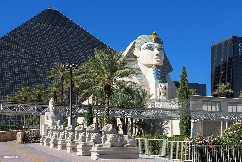 Sphinx replica front of Luxor Hotel and Casino. : Stock Photo